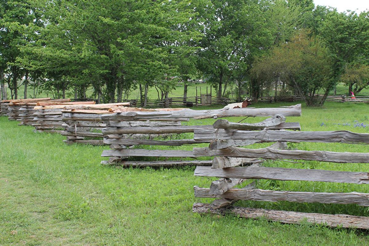 Split rail fence.