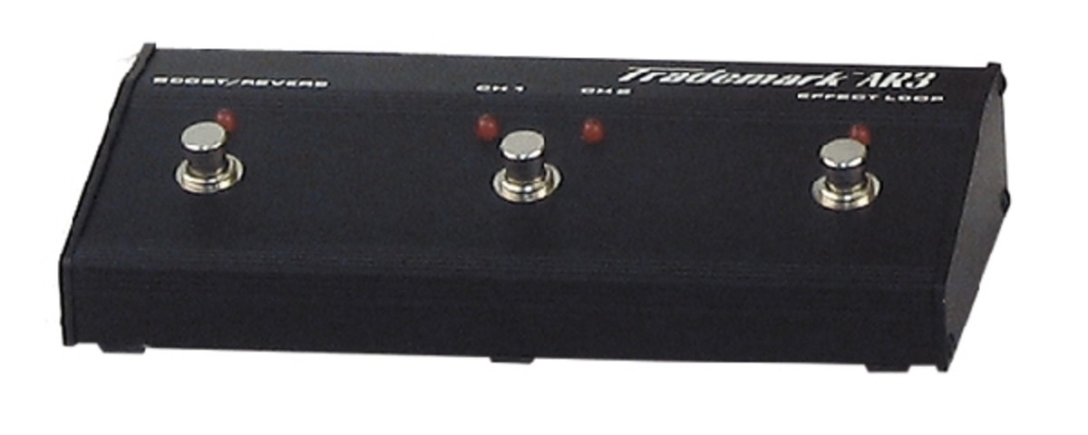 The Trademark 60's 3-button footswitch provides instant access to the amp's various features and sounds, although it loses a little flexibility in not having separate buttons for Boost and Reverb.
