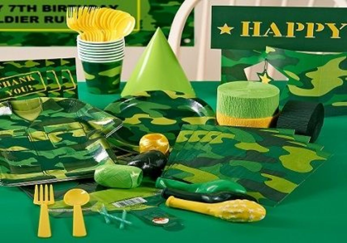 Army Camo Party Supplies Pack