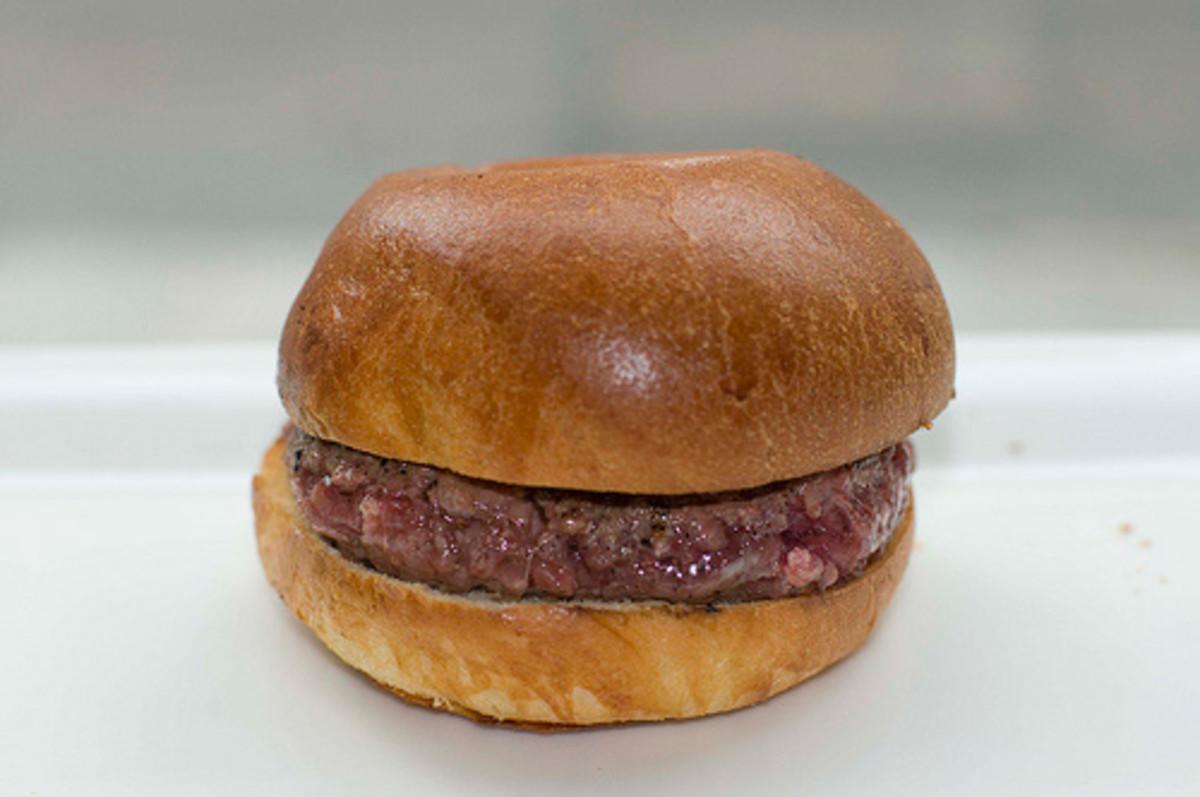 Plain hamburger!