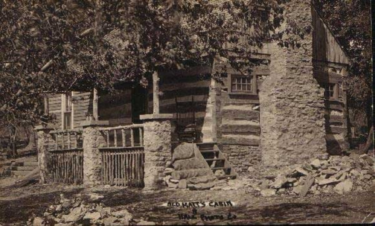 Early Photograph of Old Matt's Cabin