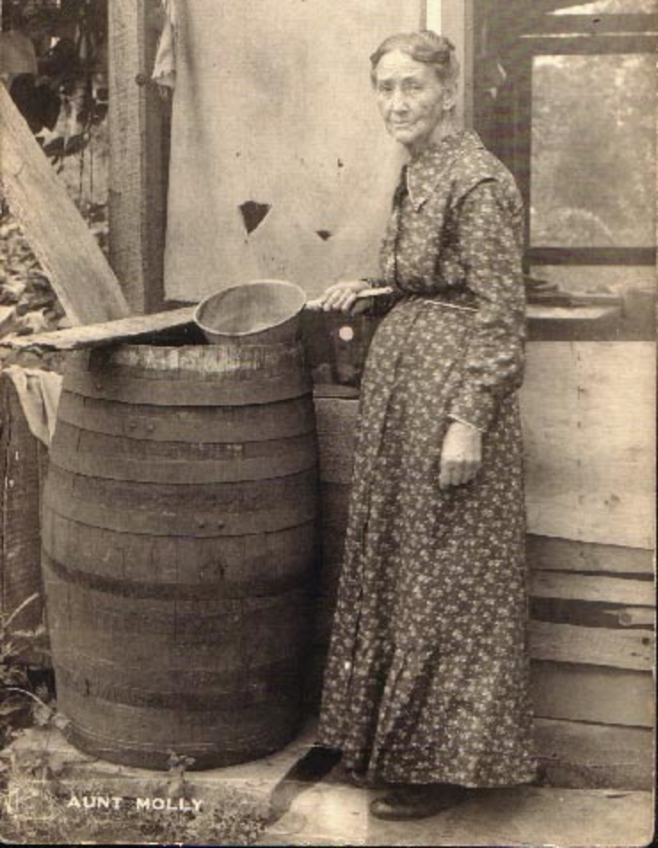 Aunt Mollie by Rain Barrel