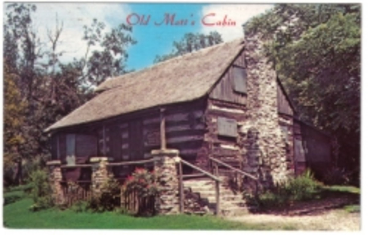 Early Postcard of Old Matt's Cabin