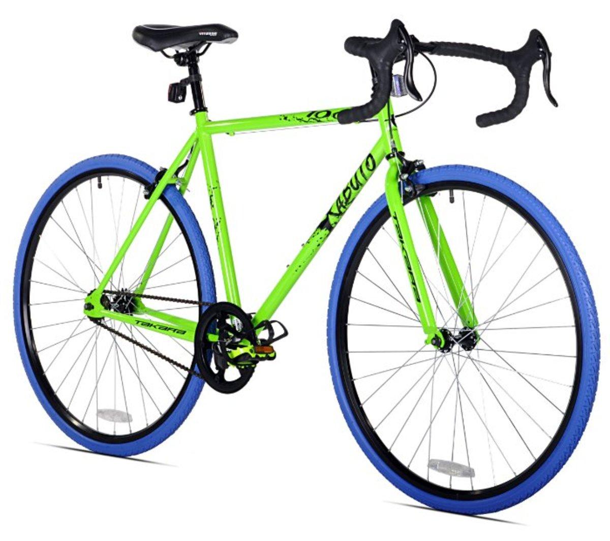 Takara Kabuto Single Speed Road Bike (Green/Blue)