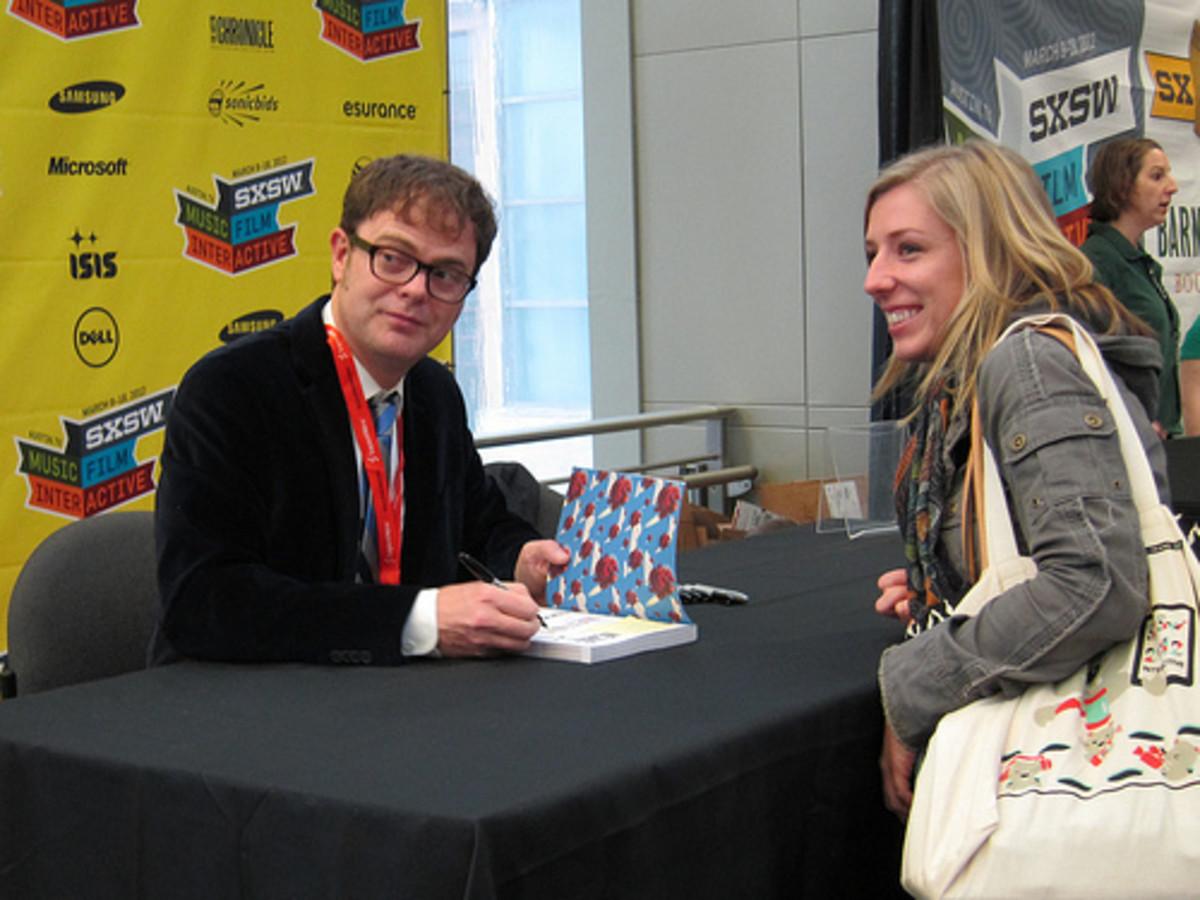 Rainn Wilson at an autograph session in Austin, TX, 2012