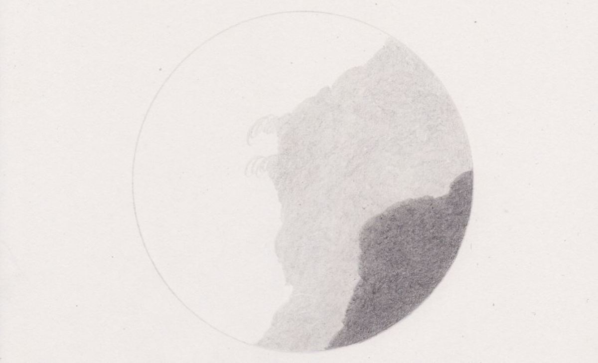 Pre-shading with a lighter grade of graphite can soften the textured appearance of the darker grade.