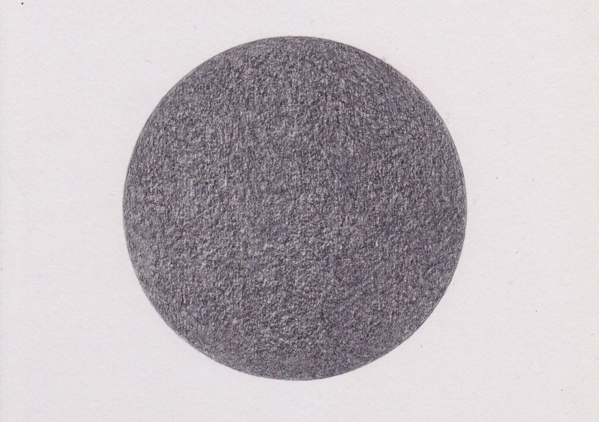 Textured appearance from heavy-weight drawing paper is due more to the grain of the paper.