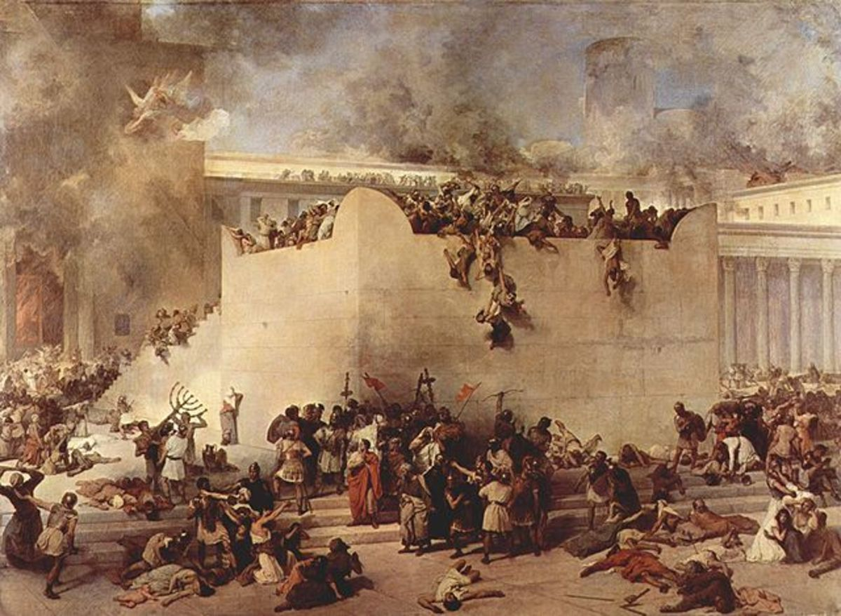 Destruction of Temple of Jerusalem by Francesco Hayez, 1867
