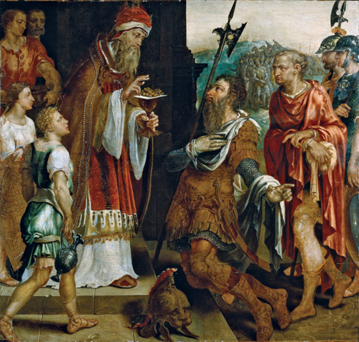 Melchizedek talks to Abraham