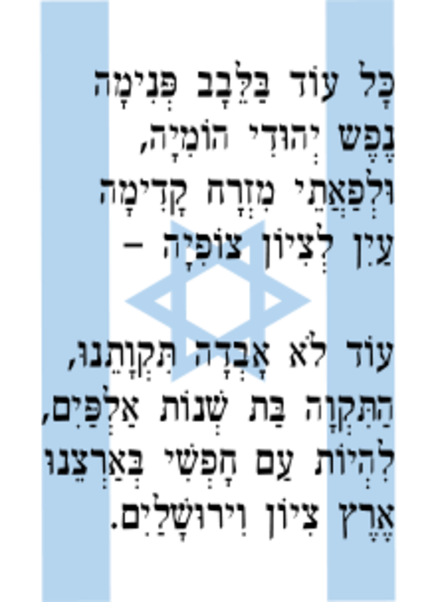 HaTikva in Hebrew