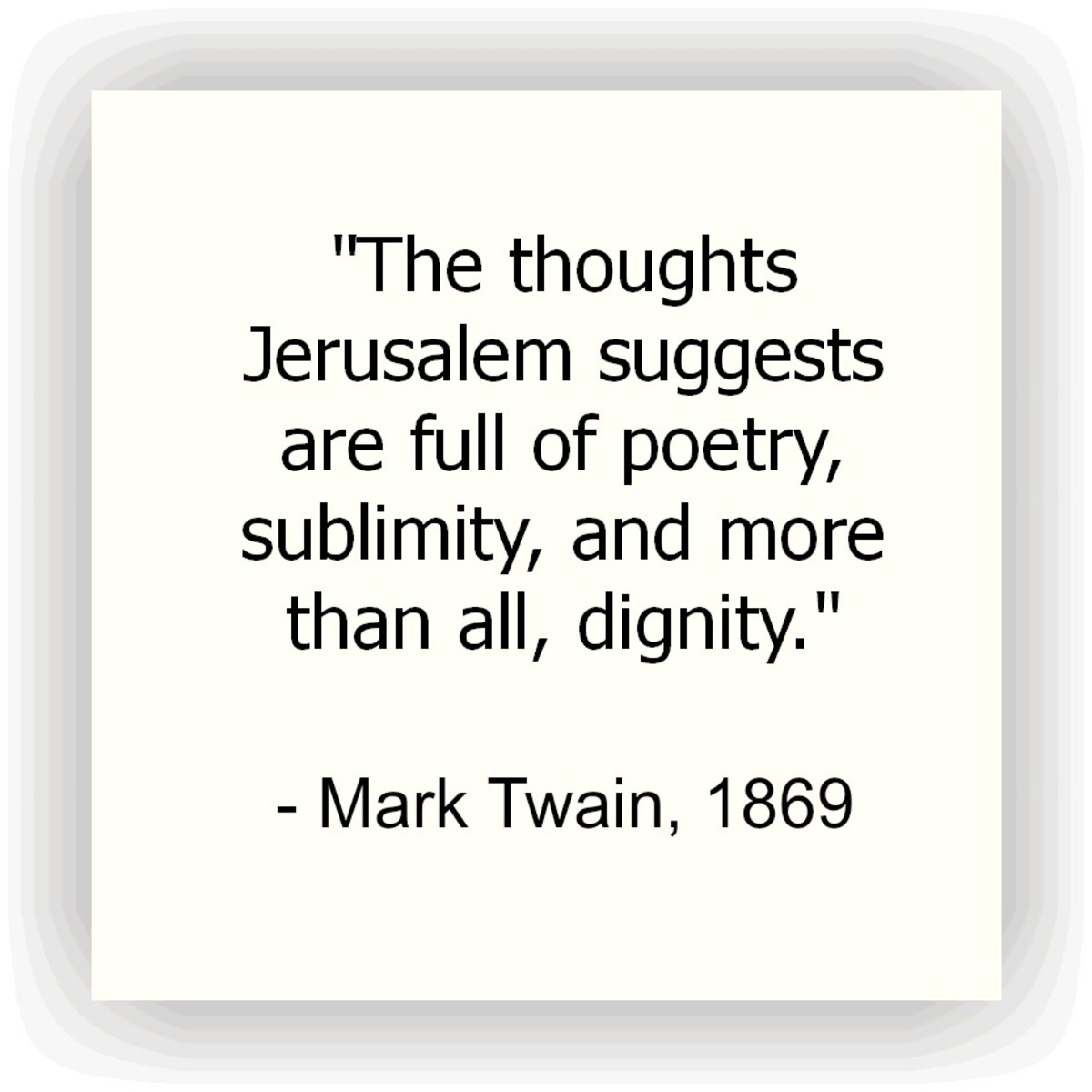 Mark Twain Jerusalem Quote