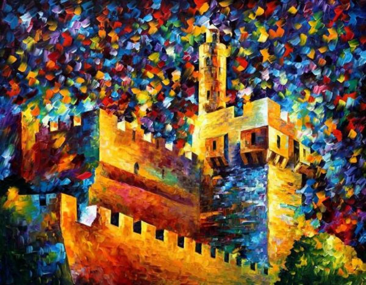Jerusalem Painting by Leonid Afremov
