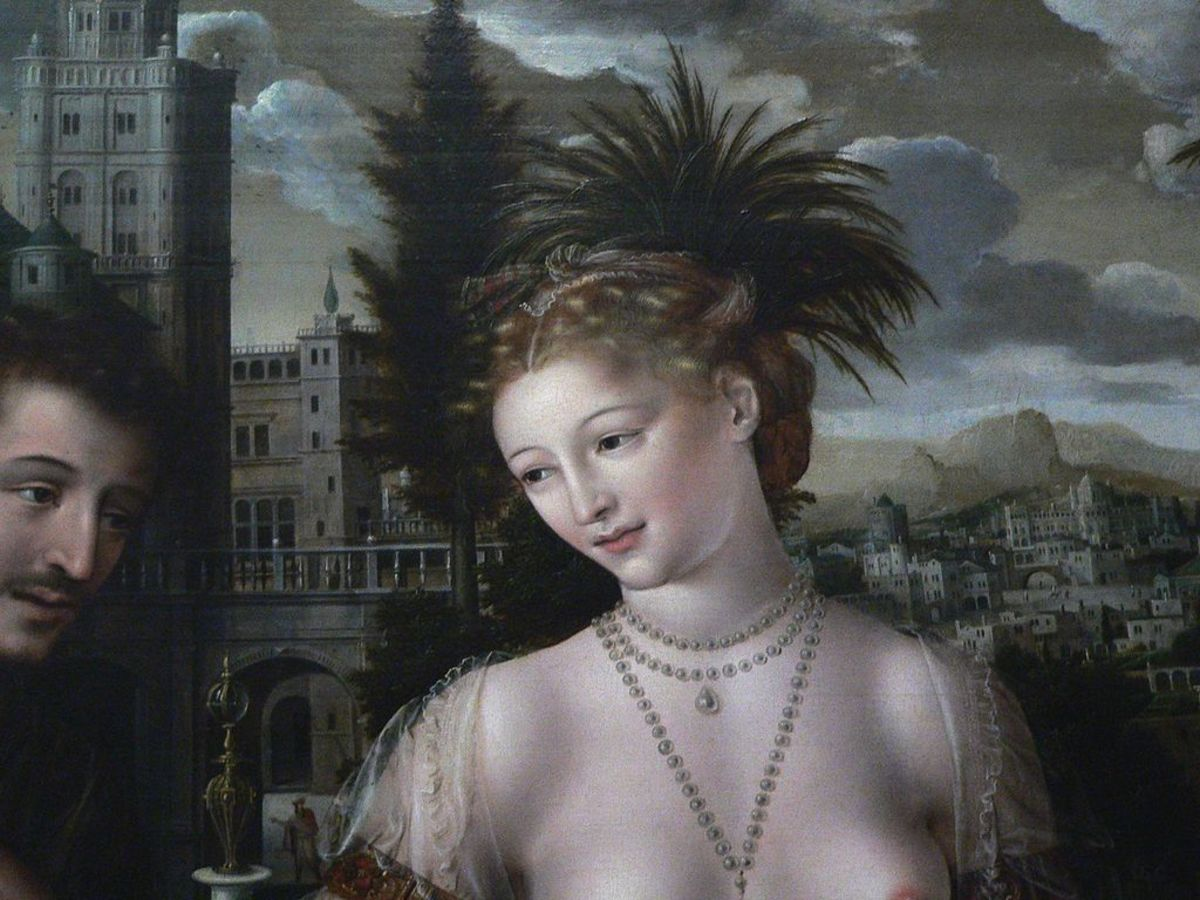David and Bathsheba, painting by Jan Massys, 1562, displayed in the Louvre, Paris