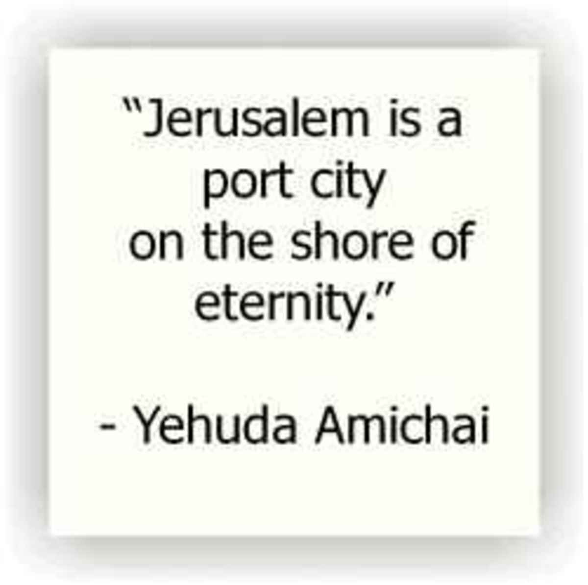 Jerusalem Quote by Amichai