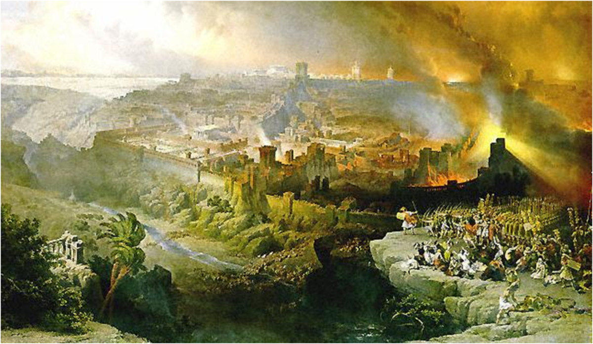 The Siege and Destruction of Jerusalem by the Romans Under the Command of Titus -  David Roberts, 1850