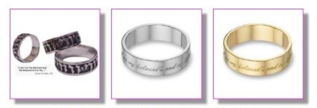 Rings with the Biblical inscription from the Song of Songs