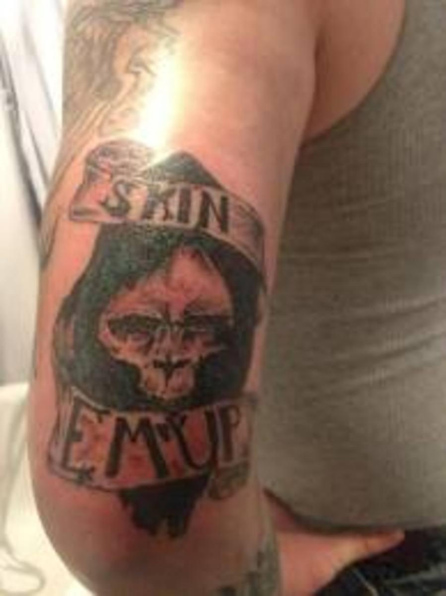 Camo tattoo designs and ideas camo themed tattoos for Camo sleeve tattoos