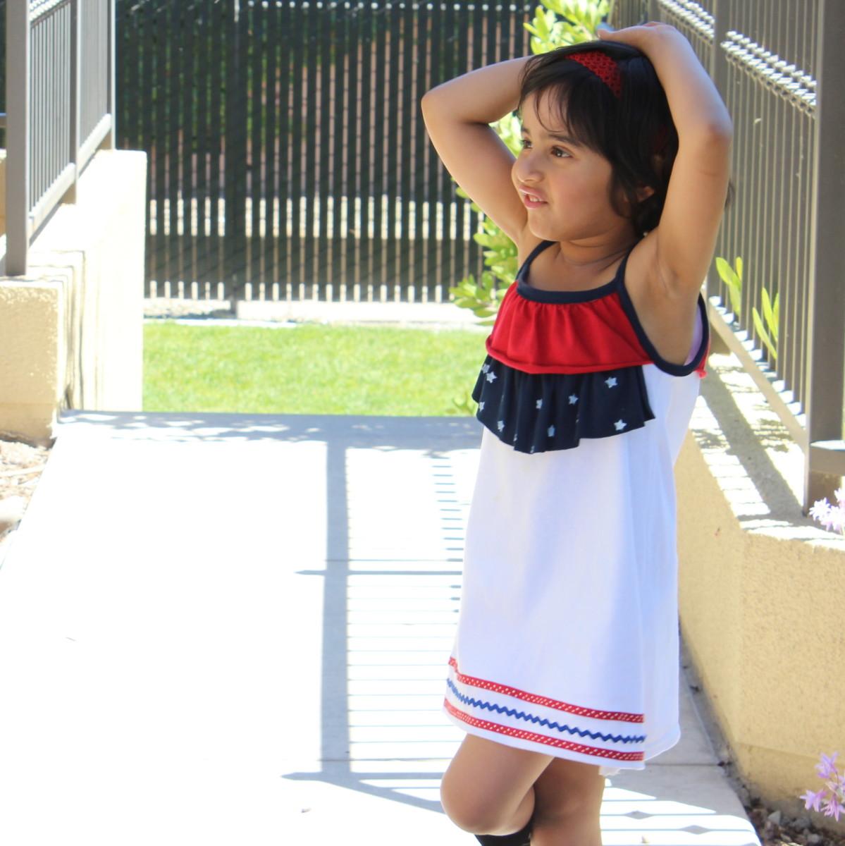 Stars n Stripes Dress Free Pattern