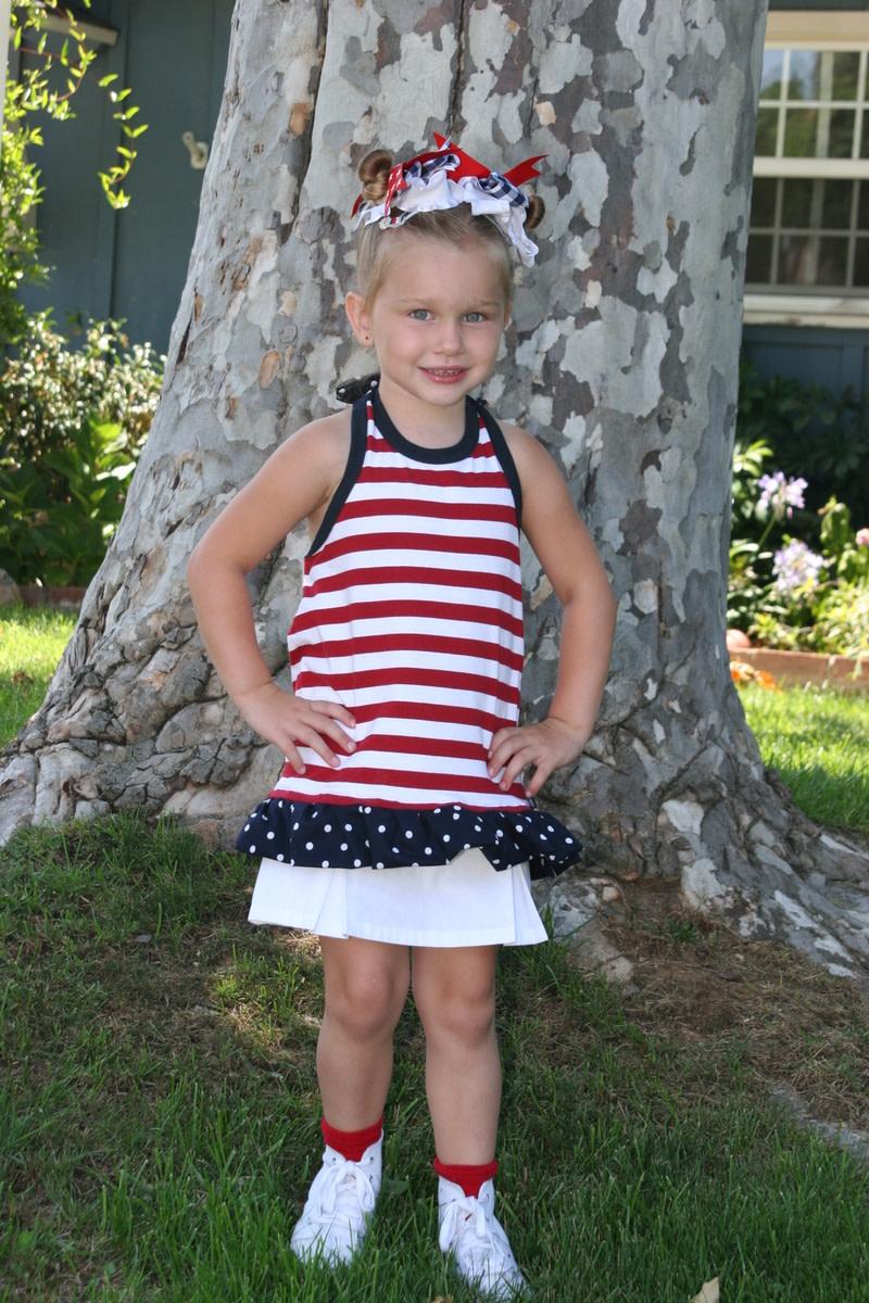 July 4 Halterneck Dress Tutorial
