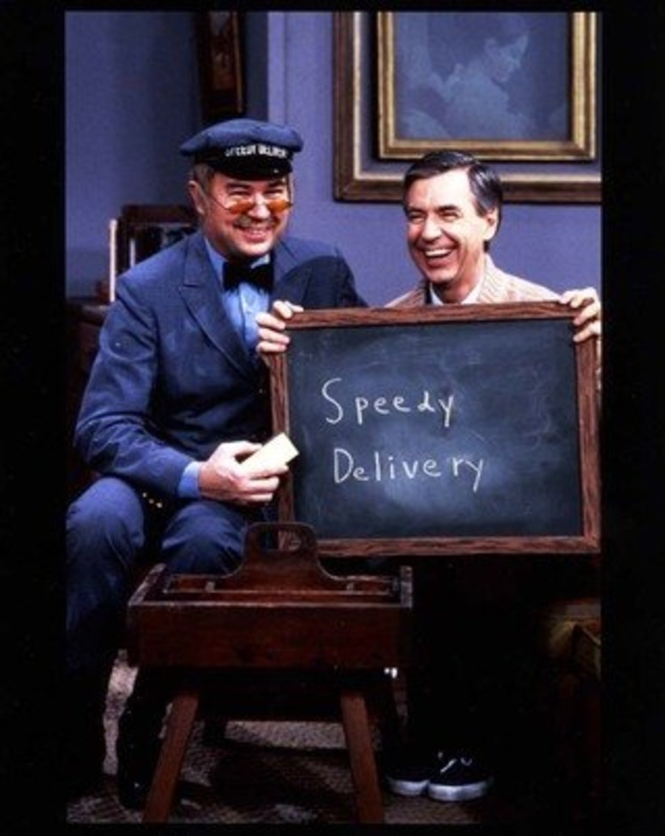 Mr. McFeely was definitely a hard working mailman, but unknown to the general public he received several letters of warning for exceeding his lunches and breaks while  fraternizing at Mr. Roger's house.  Note: Mr. Rogers did not tip at Christmas.