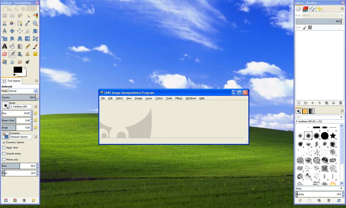 Opening GIMP