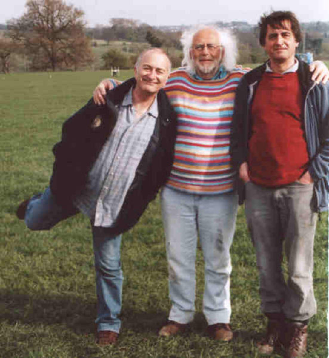 Time Team, 2007. Tony Robinson, Mick Aston , Guy de la Bedoyere on a Time Team dig.