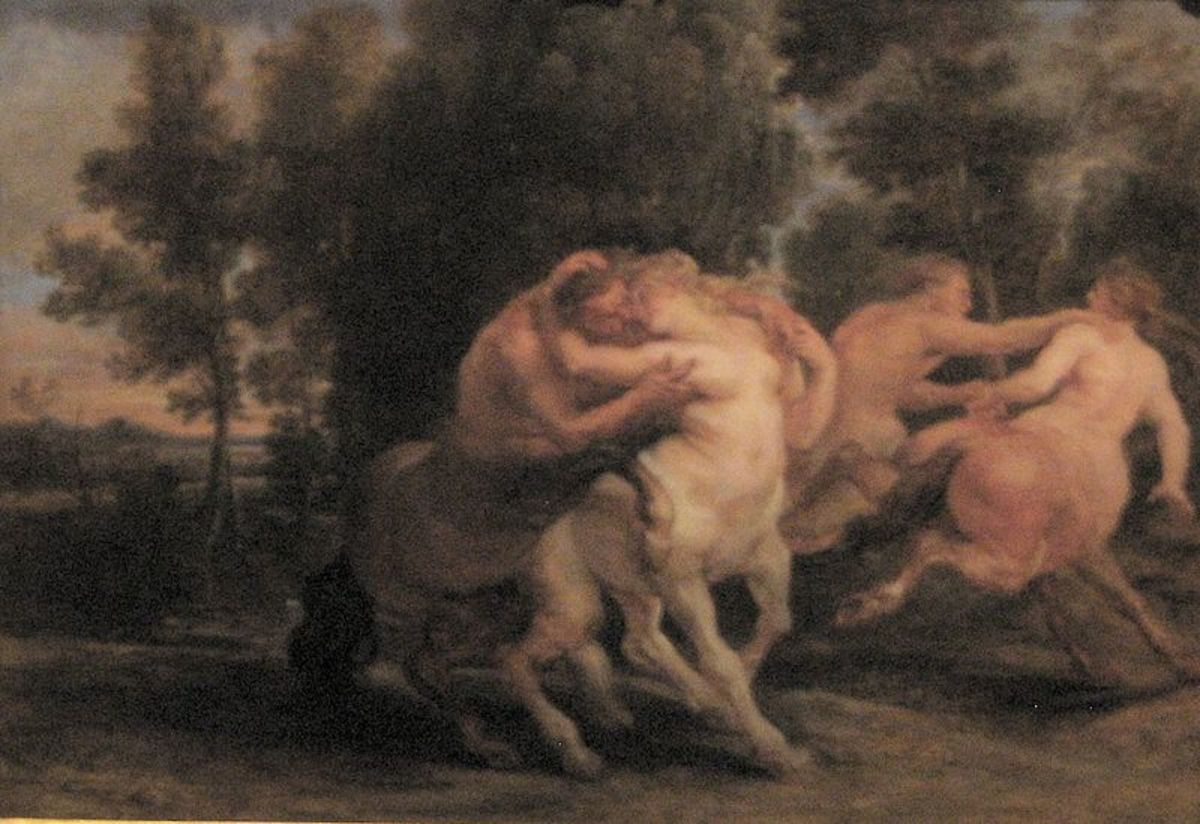 Centaurs Embracing --  Peter Paul Rubens (1577–1640)