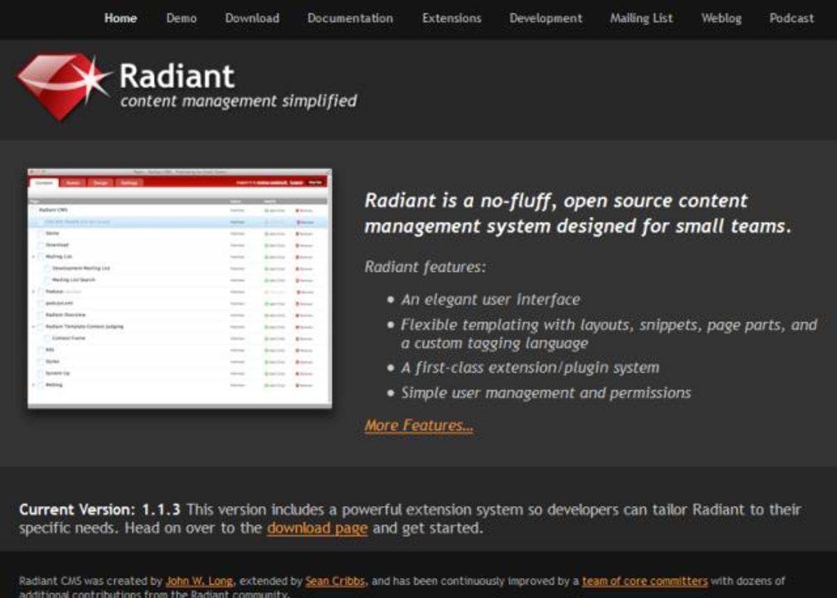 radiantcms.org