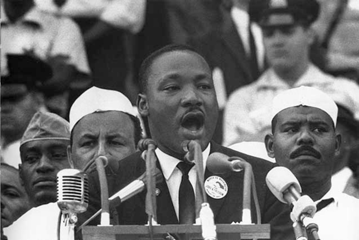 Martin Luther King, Jr., had experience and knowledge of his topic. People believed him.