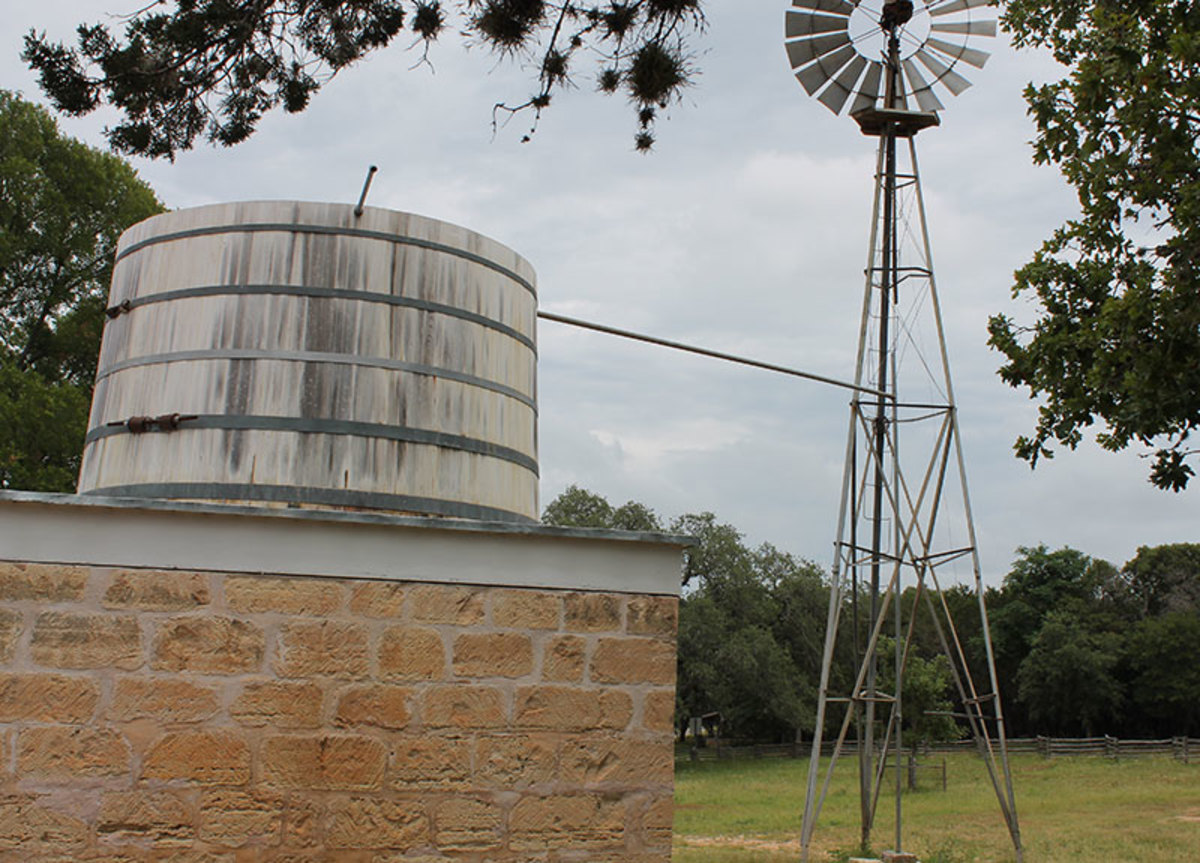 Windmill  water is still pumped to a gravity feed storage tanks.
