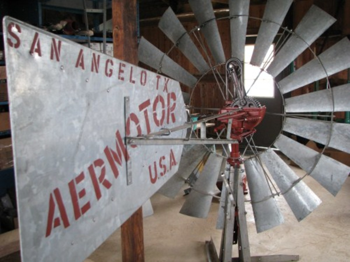 Aermotor windmills are still being made in the USA.  They are a large part of the landscape across the Plains