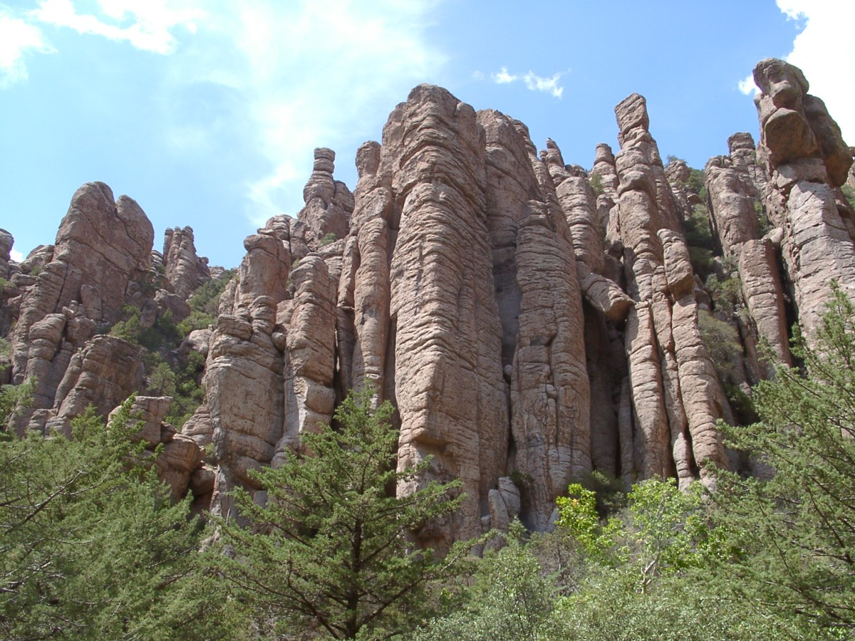Stone columns and hoodoos stand watch like brave warriors - a fitting monument to the Apache warriors of the past.