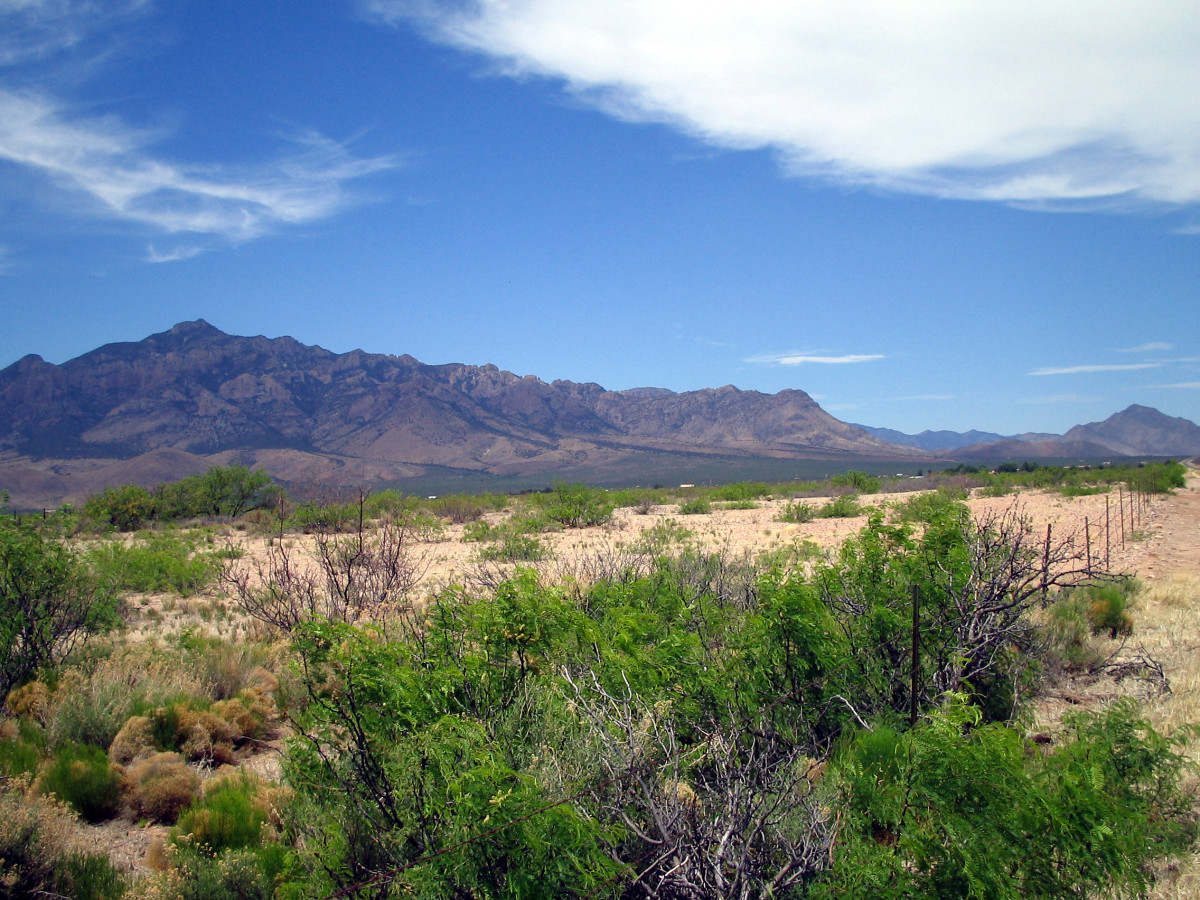 Chiracahua Mountains and San Simon Valley in southeastern Arizona. Apache land where Lozen once roamed.