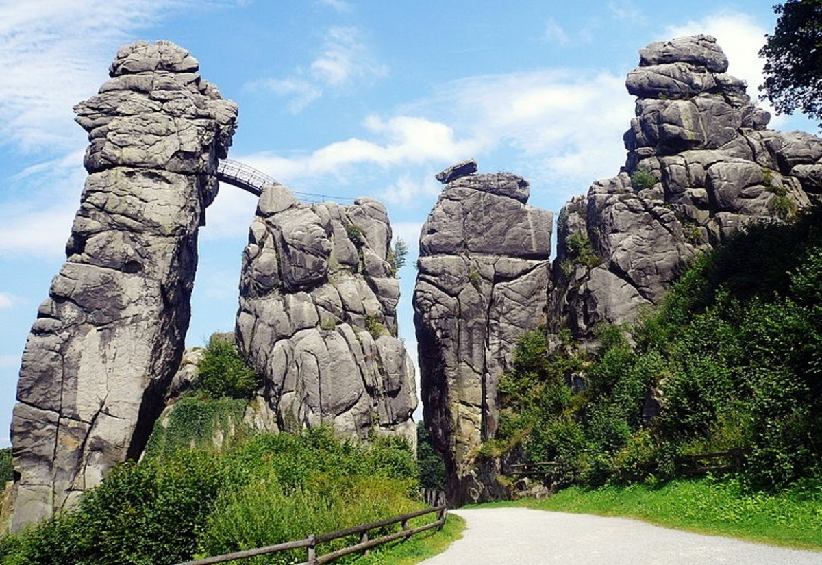 Externsteine is one of Germany's most impressive natural wonders.  Photo by Rainer Lippert