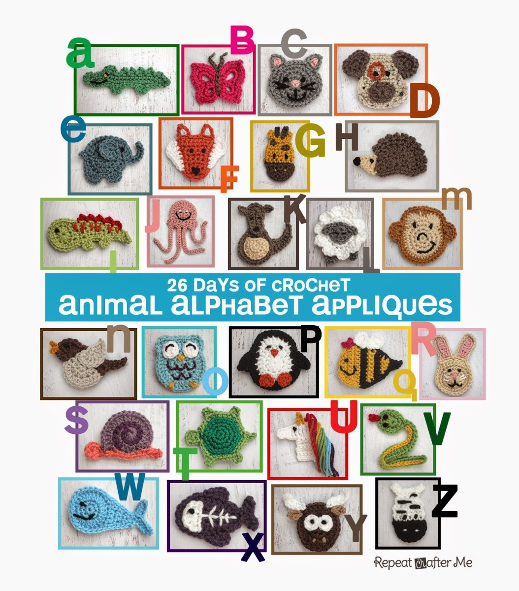 26 FREE crochet Animal Appliques