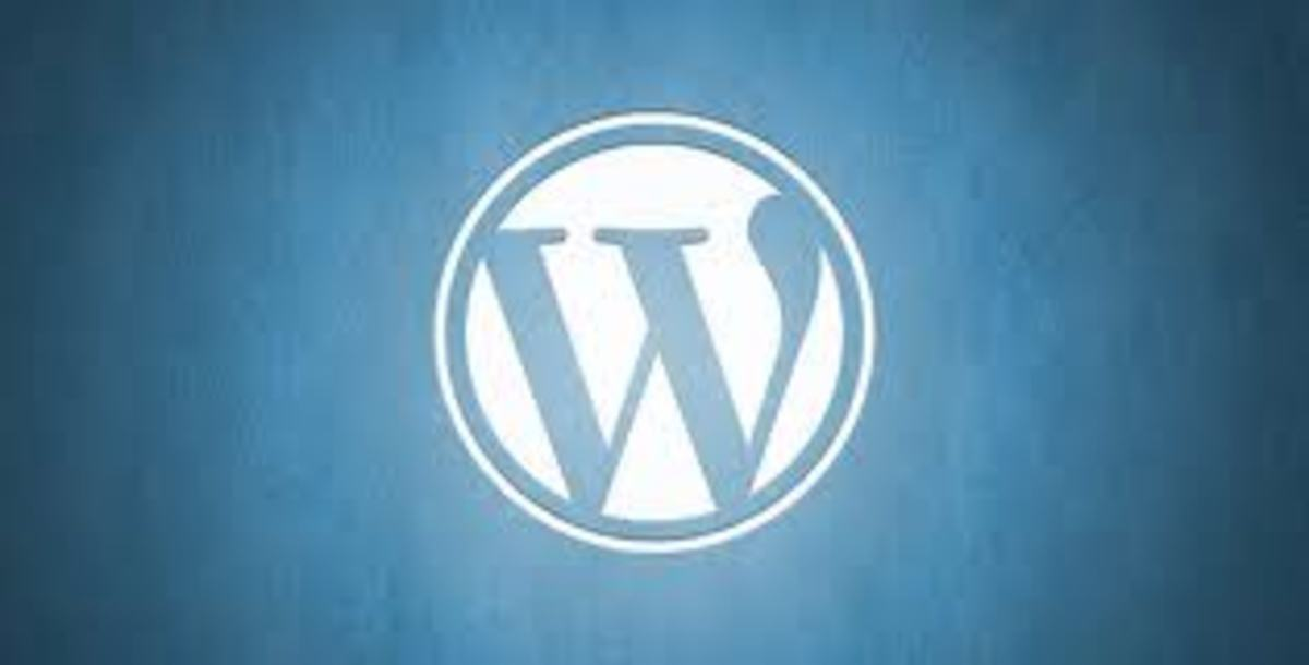 This simple logo belongs to Wordpress.a top blog development and management resource.