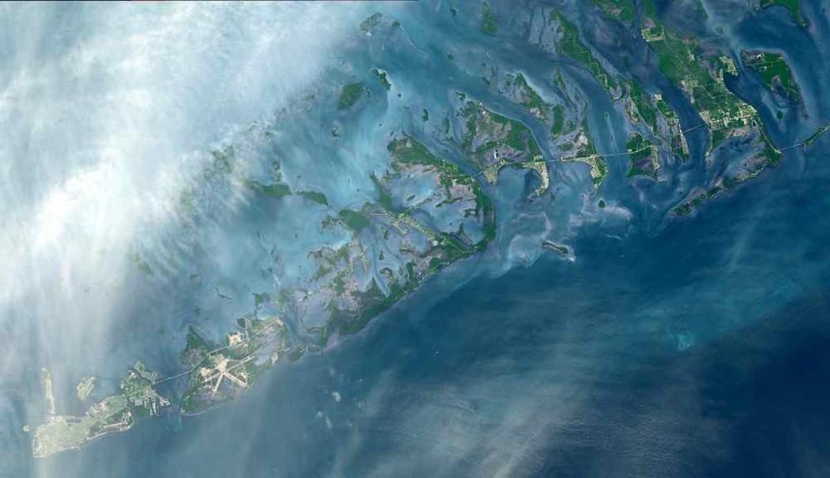 Florida Keys. Thanks to NASA/GSFC/METI/ERDAC/JAROS/US/JAPAN/ASTOR