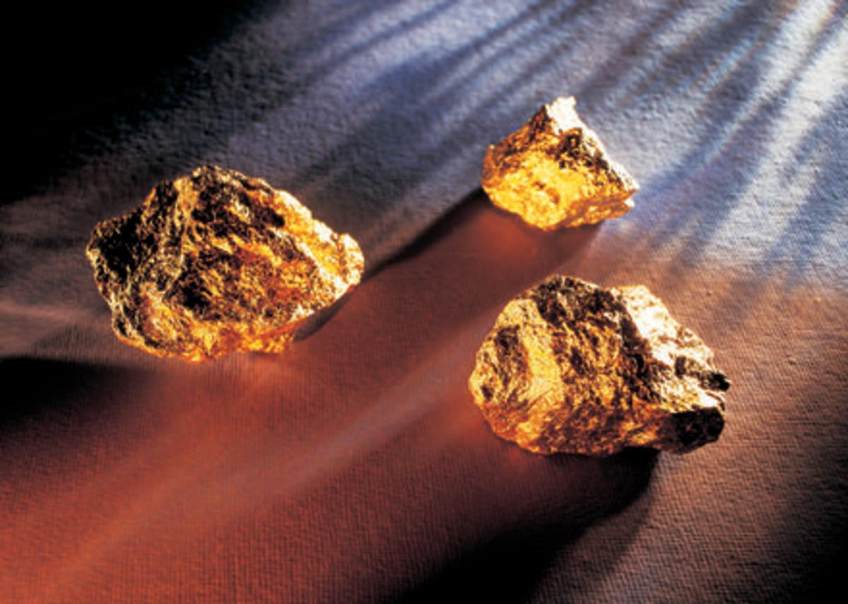 Gold Nuggets. Disclaimer: just a representation not actually found in North Carolina.