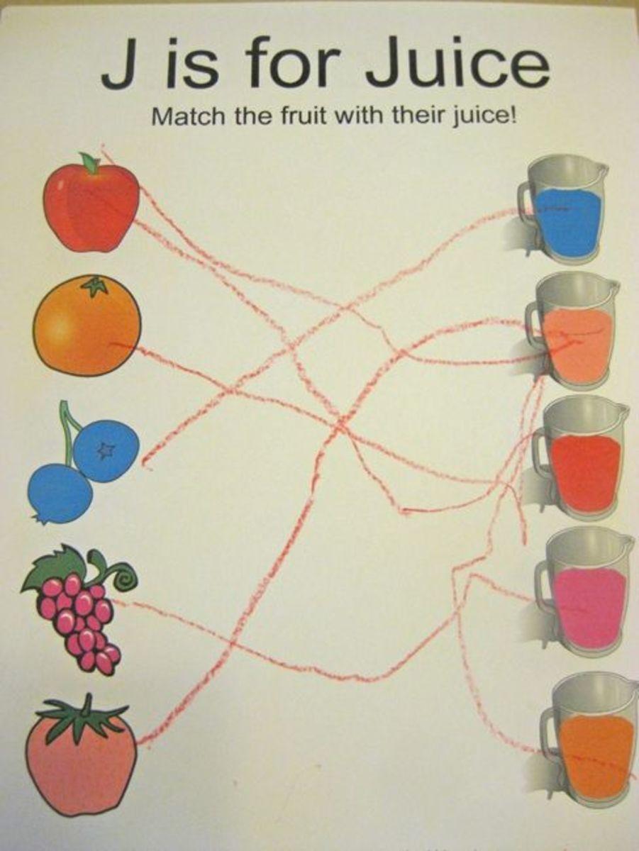alphabet activities for kids j is for juice