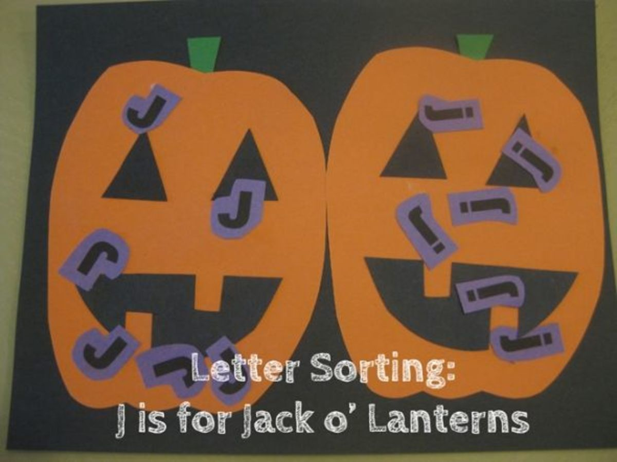 alphabet activities for kids letter sorting j is for jack o lanterns