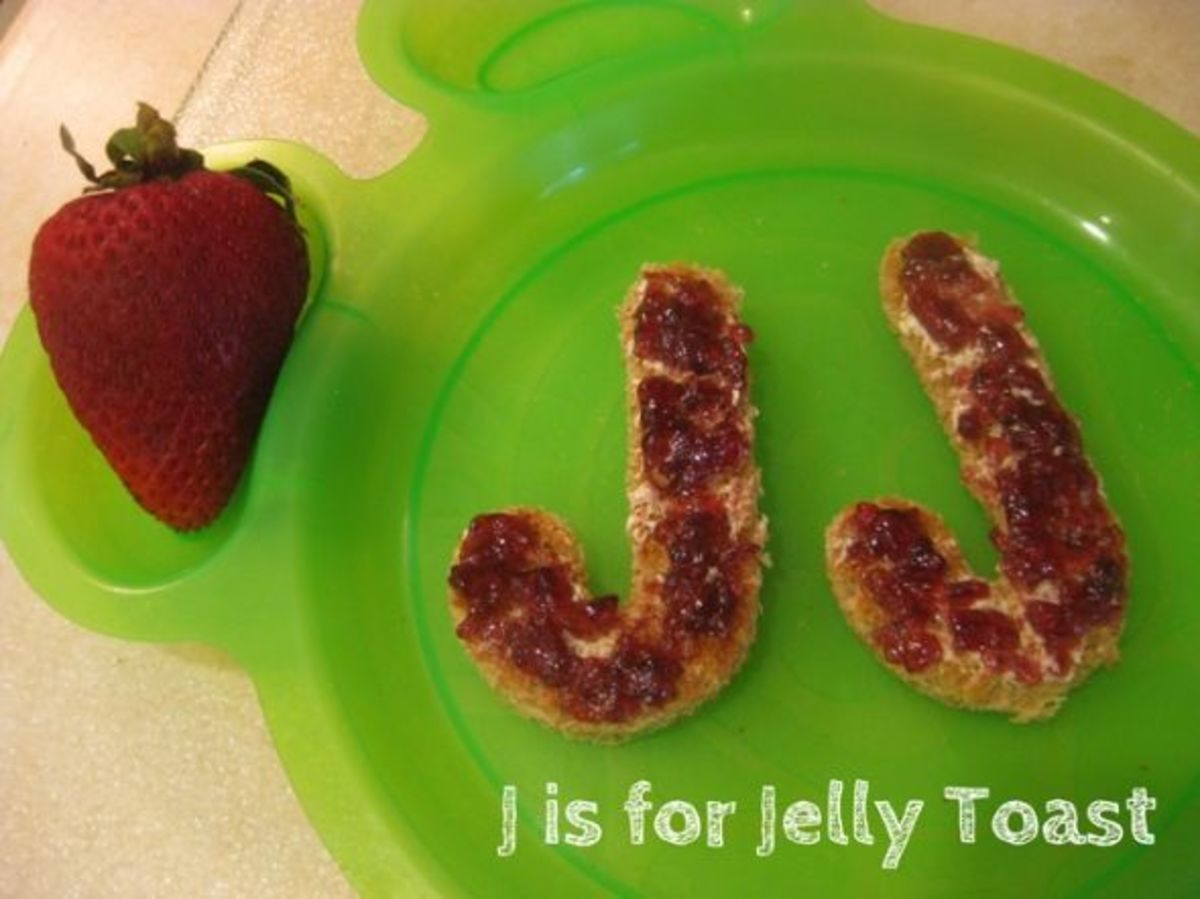 alphabet activities for kids j is for jelly toasts