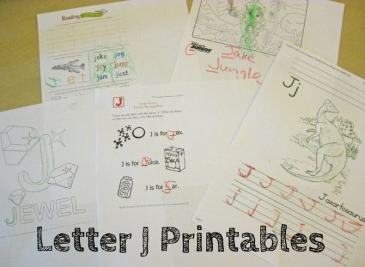alphabet activities for kids letter j free printables