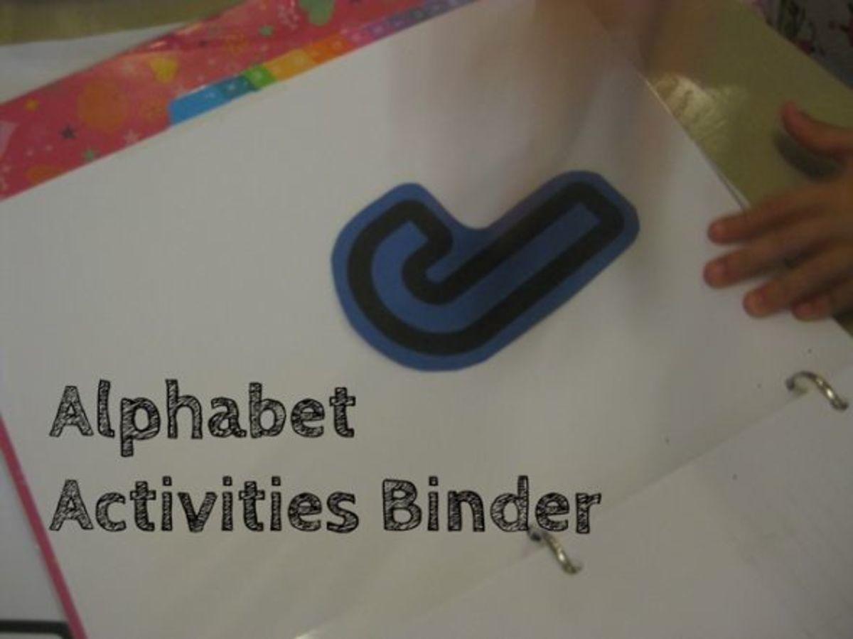 alphabet activities for kids binder