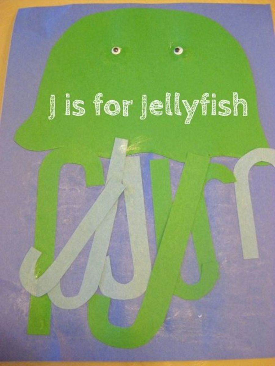 alphabet activities for kids j is for jellyfish