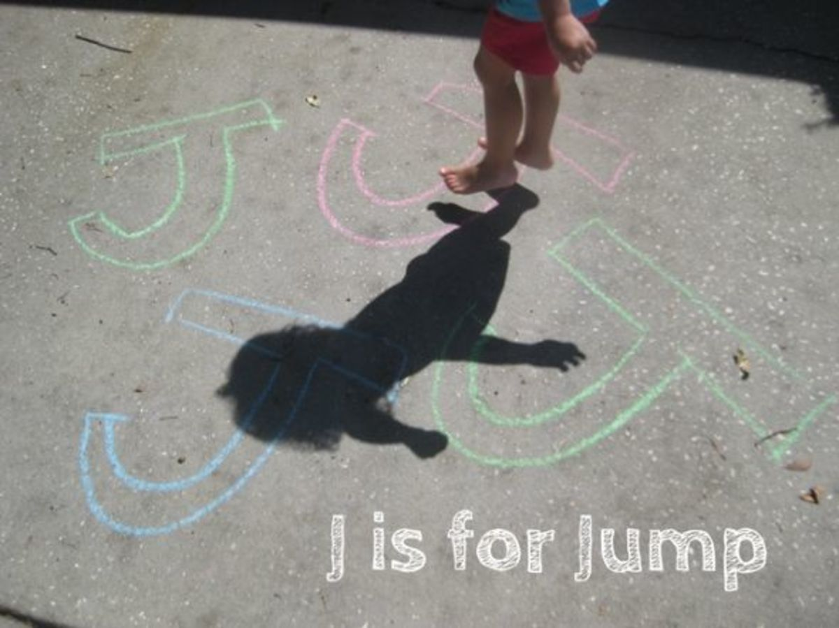 alphabet activities for kids j is for jumping