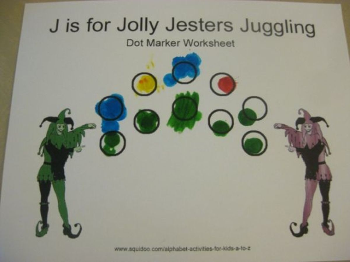 alphabet activities for kids j is for jolly jesters juggling