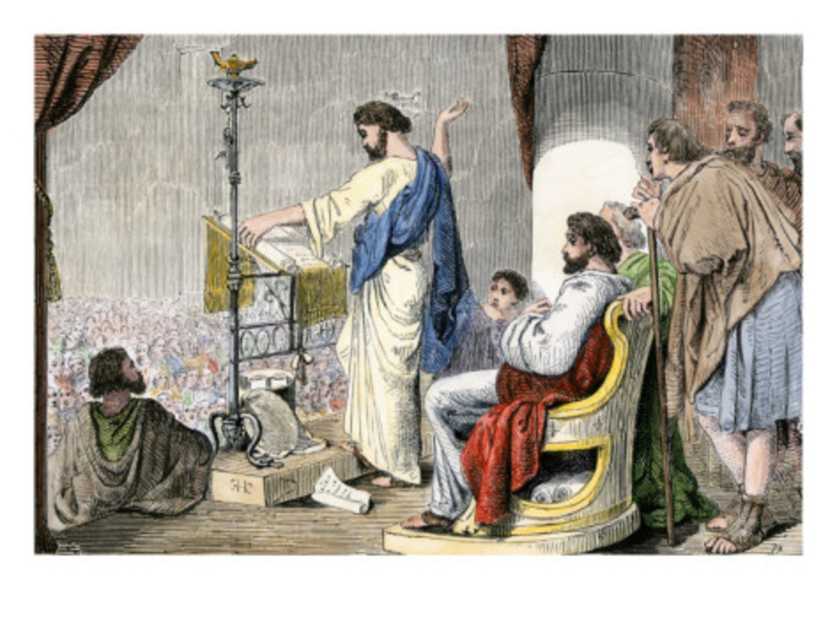 Apostles Paul and Barnabas Preaching Christianity at Antioch