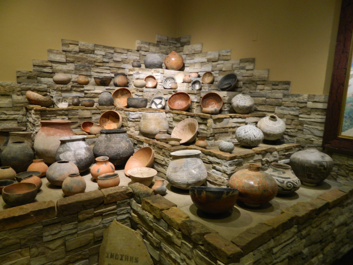 Native American pottery collection
