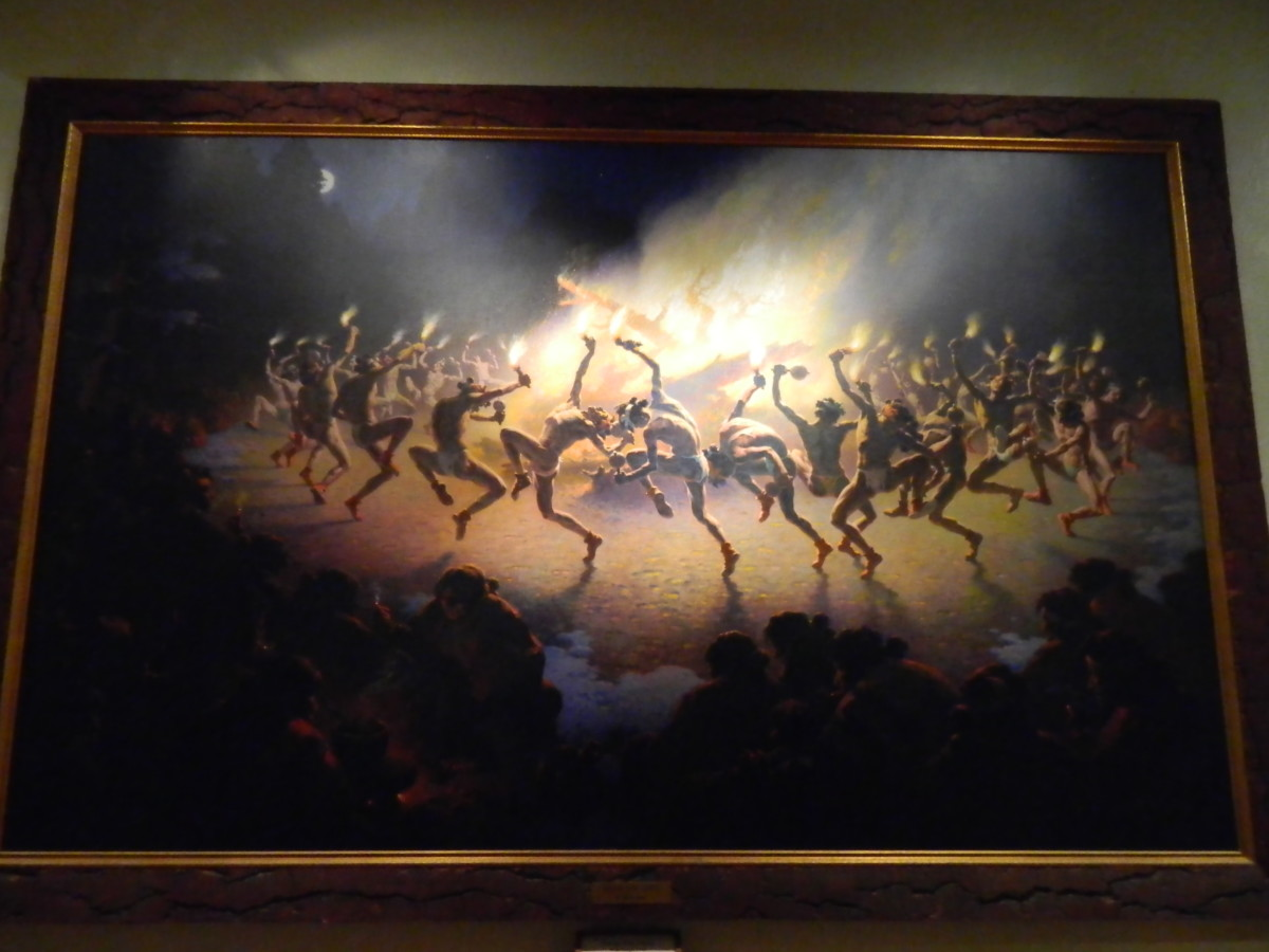 Navajo Fire Dance by William R. Leigh