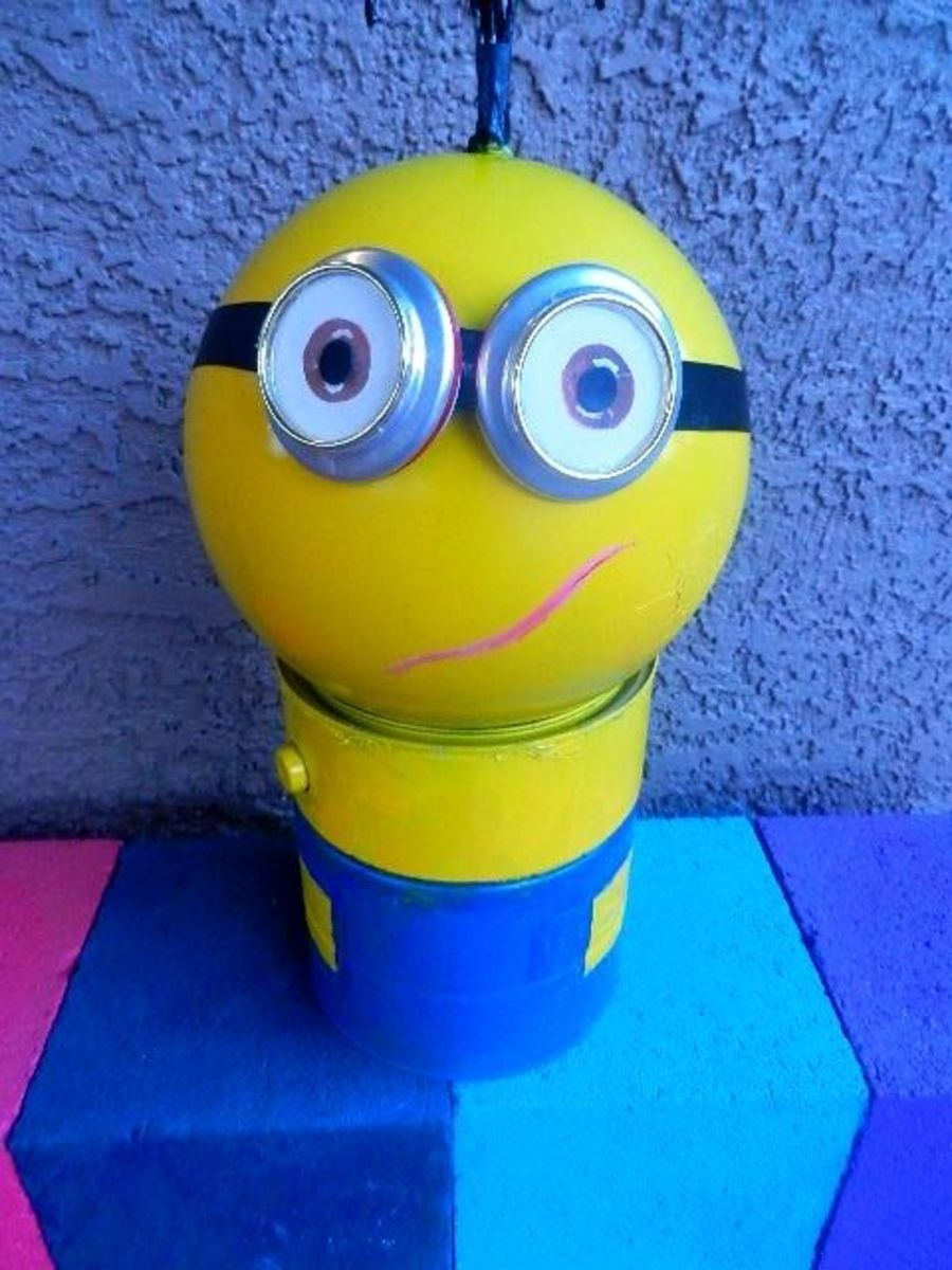 Learn how to make these Minion goggles using two soda cans.